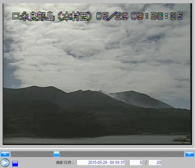 気象庁の火山カメラ画像09:58:35