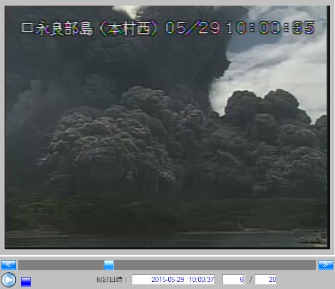気象庁の火山カメラ画像10:00:35