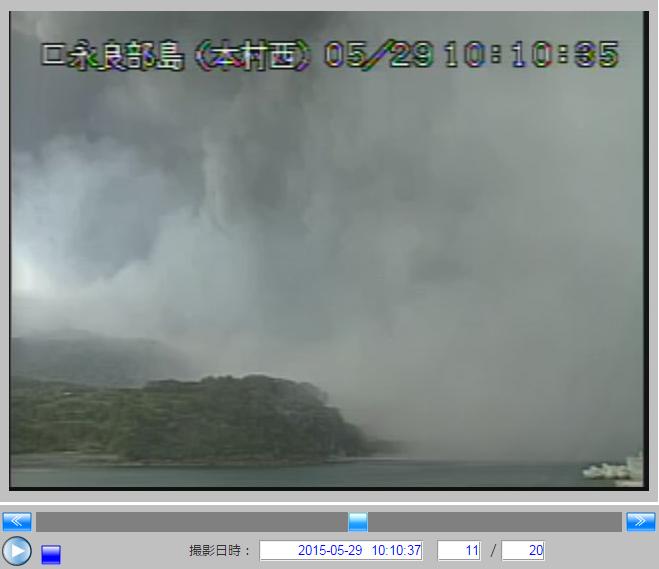 気象庁の火山カメラ画像10:10:35